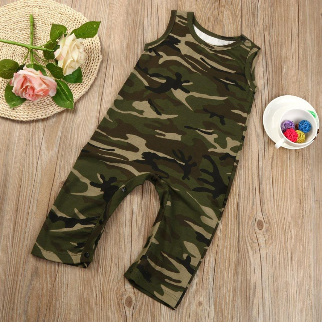 457a913b05e Amazon.com  Fineser Summer Newborn Infant Baby Boys Girls Camouflage Romper  Jumpsuit Sunsuit Outfits Clothes  Clothing