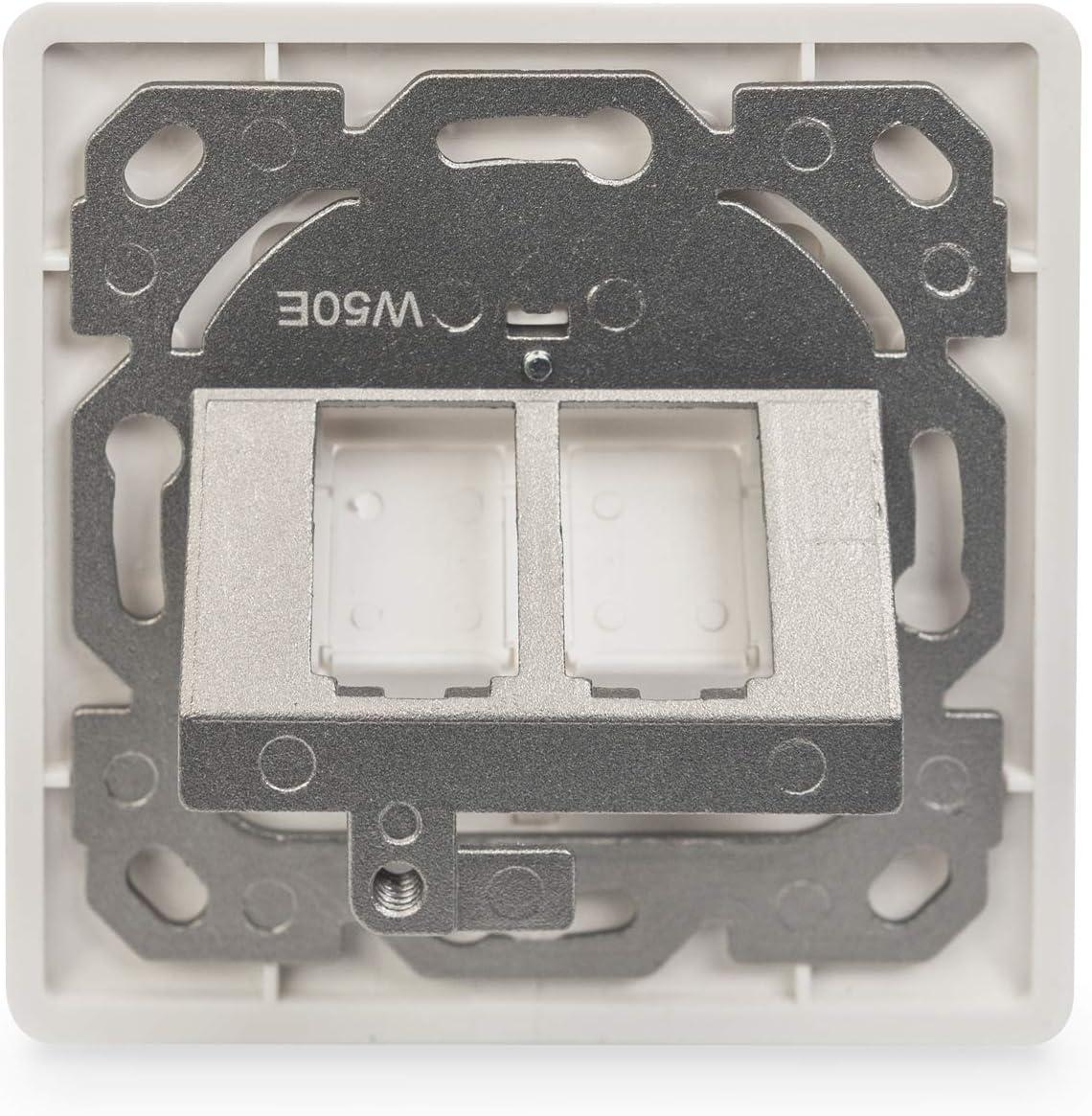 Digitus Anschlussdose Für Keystone Modul 2 Port Computer Zubehör