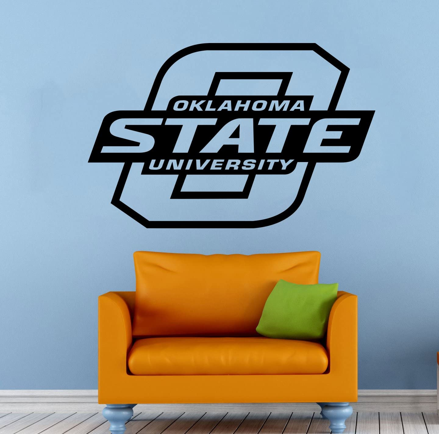 """Oklahoma State Cowboys Wall Vinyl Decal Sticker NCAA College Football Sport Home Interior Removable Decor (22""""high X 34""""Wide)"""