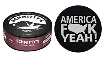 44327aff6362 Schmitty's Snuff Original Mountain Herbal Chew Fake Dip No Tobacco Single  Can (America Skin)