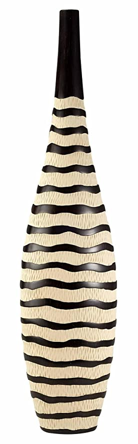Amazon Ddeh 295h Zebra Print African Finished Vase