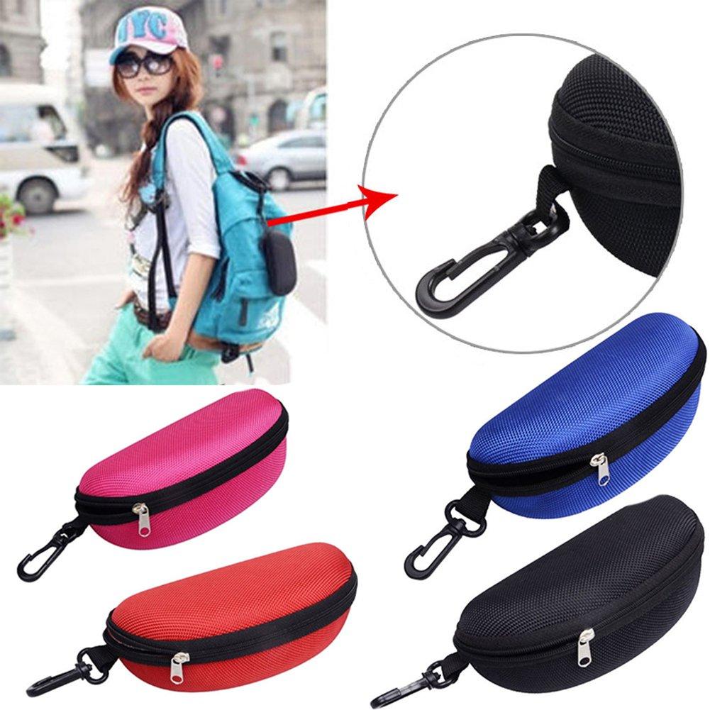Gracefulvara Portable Zipper Eye Glasses Shell, Sunglasses Hard Case Protector (Black) by Gracefulvara (Image #2)