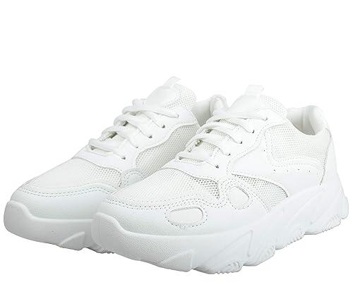 Irsoe Girls' White Sports Shoes -8 UK