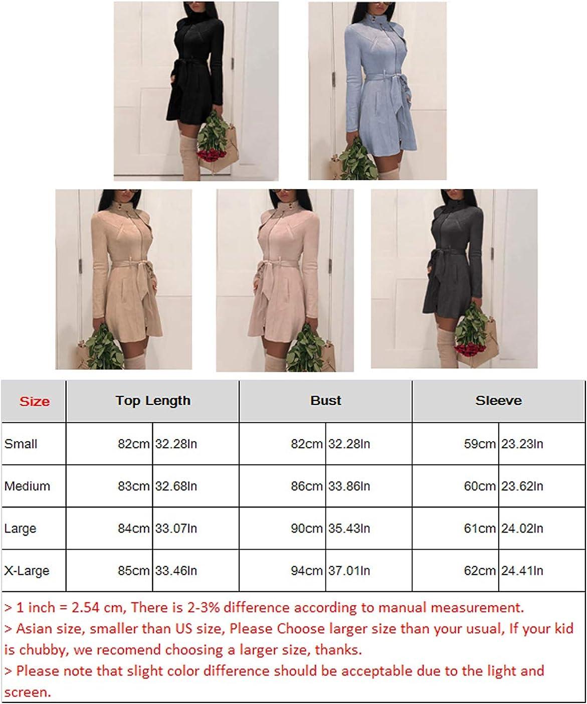 Suesung Women Hooded Medium Length Trench Coat High Neck Long Sleeve Belted Overcoat