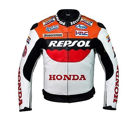Amazon.com: Honda Repsol Team Racing chamarra de piel (sin ...
