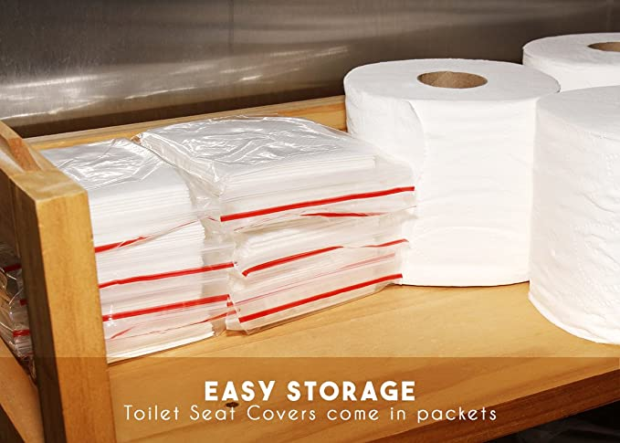 Amazon.com: 50 Count Disposable Toilet Seat Covers   Paper Toilet Covers, 5  Packs Of 10, 14 X 16.5 Inches: Home Improvement