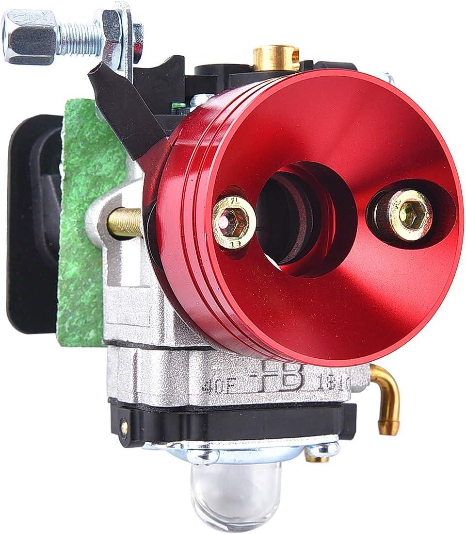 Kit de mise /à niveau du carburateur 15mm Kit de filtre /à air pour 2 temps 43cc 47cc 49cc Scooter /à essence debout VTT Quad Pocket Bike X-TREME XG-550 BladeZ Moby X Rouge