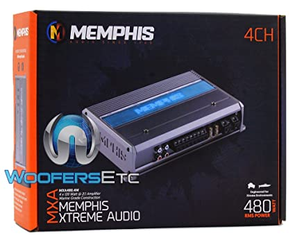amazon com memphis mxa480 4m 4 channel 480w rms class d marine rh amazon com