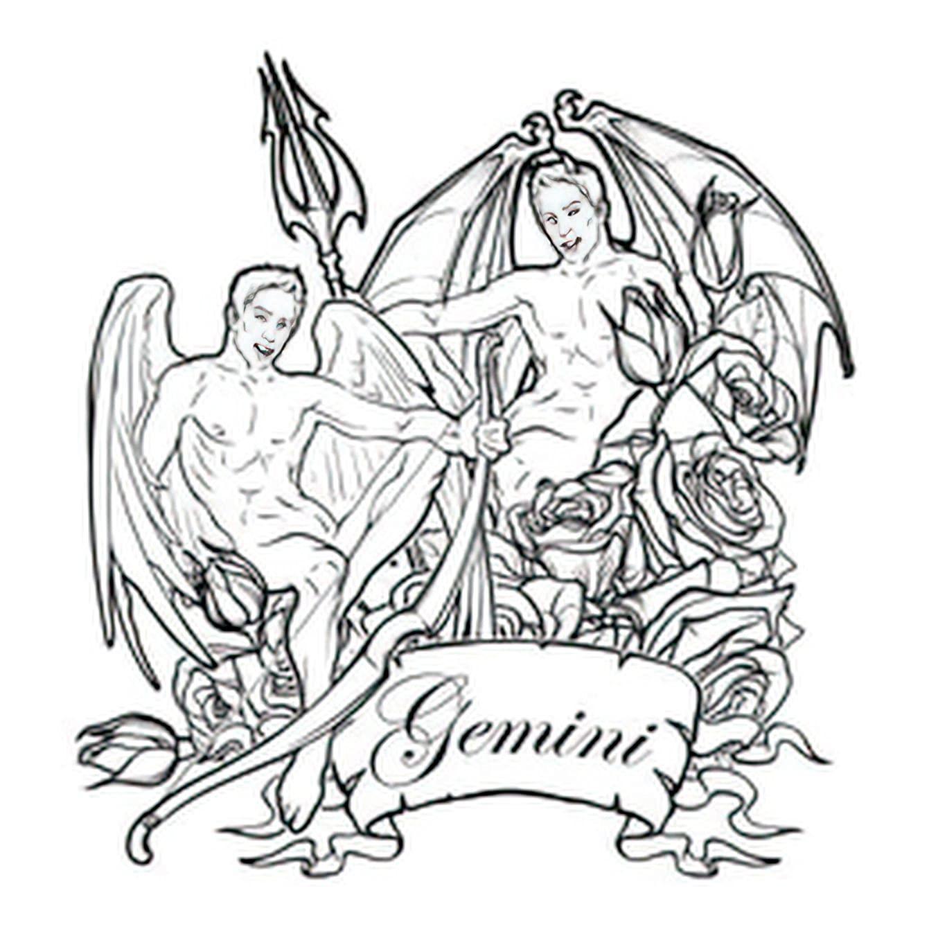 Gemini Zodiac Sign Tattoos
