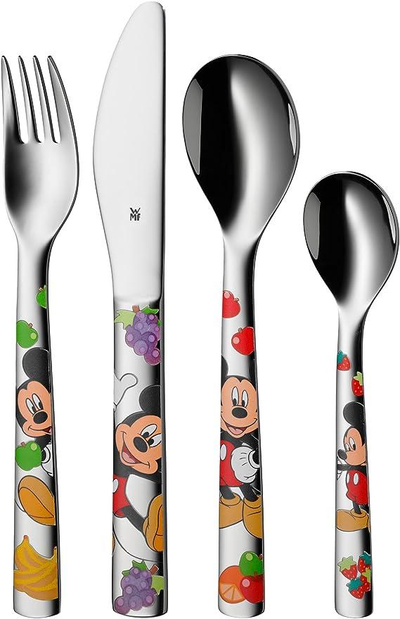 ID Kinderbesteck Minnie Mouse mit Gravur nach Wunsch 4-teilig Edelstahl Disney