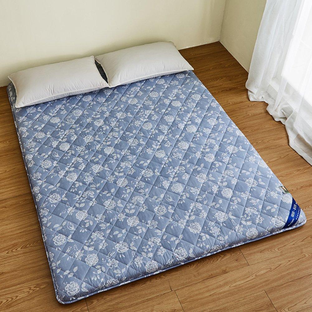 DULPLAY 通気性 式 マットレス パッド,厚さ ソフト スリップ 100% コットン マットレス トッパー 快適 ベッドのマット ダブルベッド サイズ -A 150x200cm B07G79G86L A 150x200cm