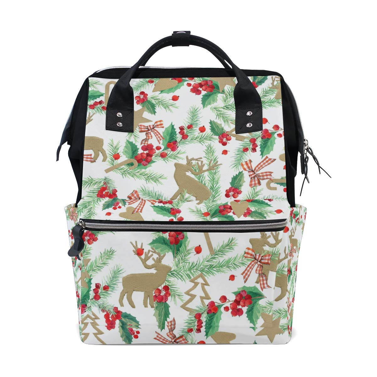 75339e6146d9 Amazon.com : MAPOLO Watercolor Christmas Deer Diaper Backpack Large ...