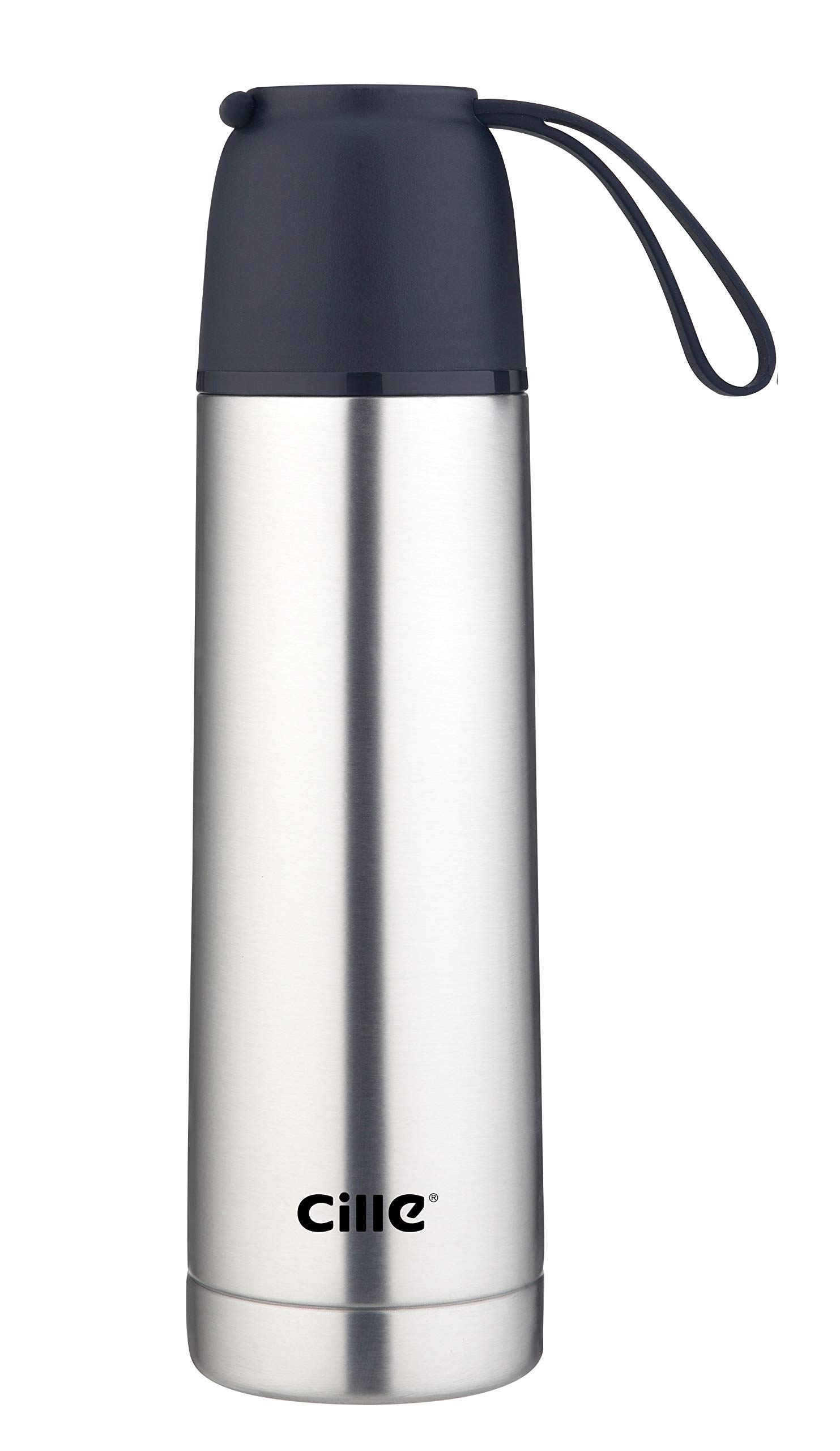 Cille Stainless Steel Vacuum Bottle (500ml/17oz) – Metal Double Wall Insulated Water Bottle For Cold Drinks & Hot Beverages