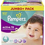 Pampers Active Fit Größe 4 Maxi 7-18kg Jumbo Plus Pack (1 x 64 Windeln)