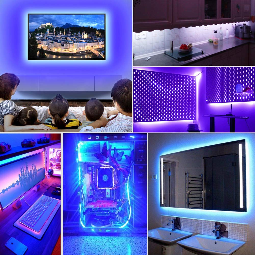 LED TV Hintergrundbeleuchtung VOYOMO Upgrade-Version 2M LED Fernseher Beleuchtung USB f/ür 40 bis 60 Zoll HDTV,TV-Bildschirm und PC-Monitor