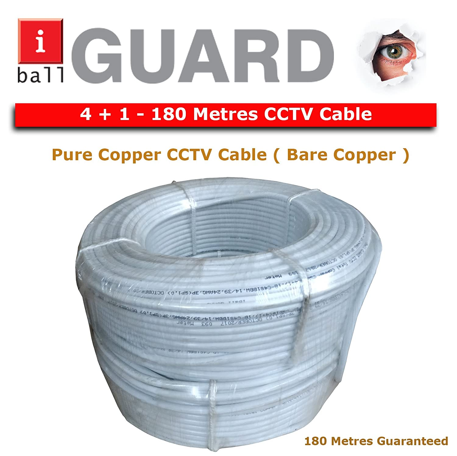 Buy Iball 4 1 Copper 180m Cctv Cable Video Power Audio Wiring For Home Conductor Online At Low Price In India Camera Reviews Ratings