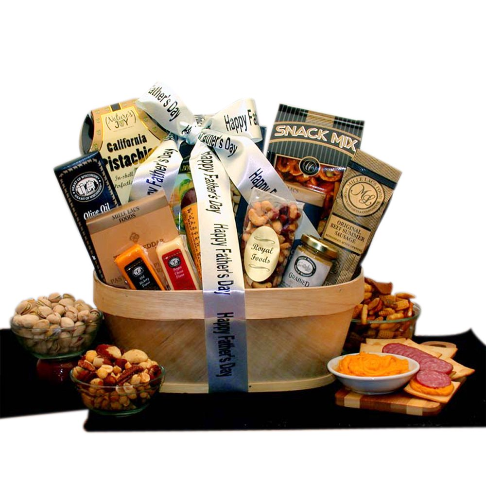 Father's Day Gourmet Nut & Sausage Assortment Gift Basket
