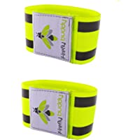 Firefly Buddy. Pack of 2 x Great Reflective Arm/Ankle Elastic Bands for Running, Cycling, Biking, Walking. Best Safety Gear for Men, Women & Kids Outdoor Activities.