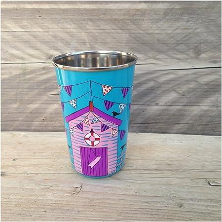 Taza de casetas de playa, vaso con soporte, artículos de ...