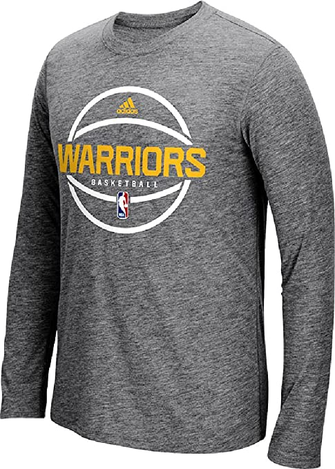 57f980081f8d adidas Golden State Warriors Slimmer Fit On-Court Dark Grey Pre-Game  Ultimate Synthetic