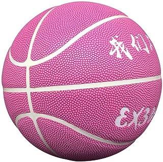 C.N. Compétition d'entraînement Standard Adulte de Basket-Ball hygroscopique à l'intérieur et à l'extérieur de la Rue PU Basket-Ball,Rose,Numéro 7