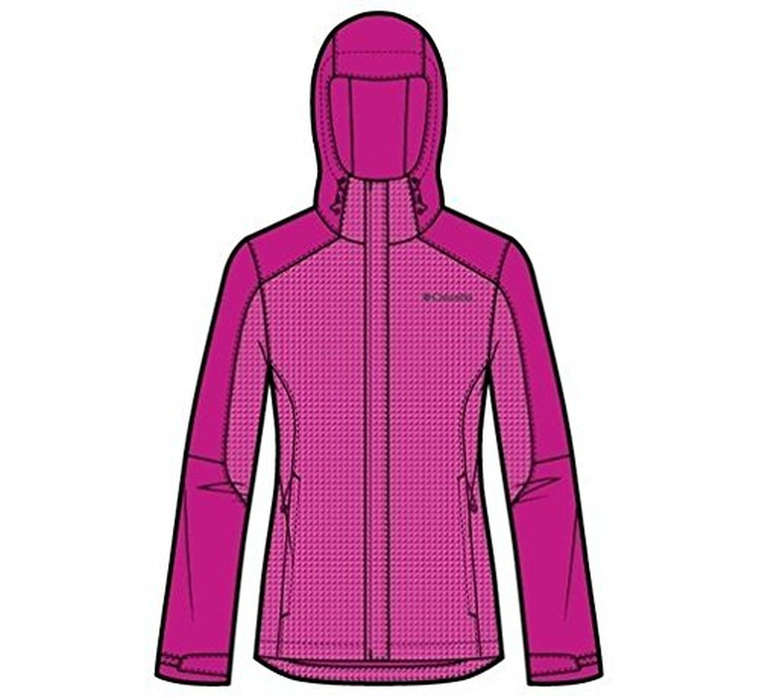 Columbia Women's Gotcha Groovin Jacket, Groovy Pink, Medium