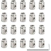 SCHILDER Systeme 20 abrazaderas de acero inoxidable para cuerda | Longitud: 10 mm | Ø 8 mm | Abrazadera para cable de…