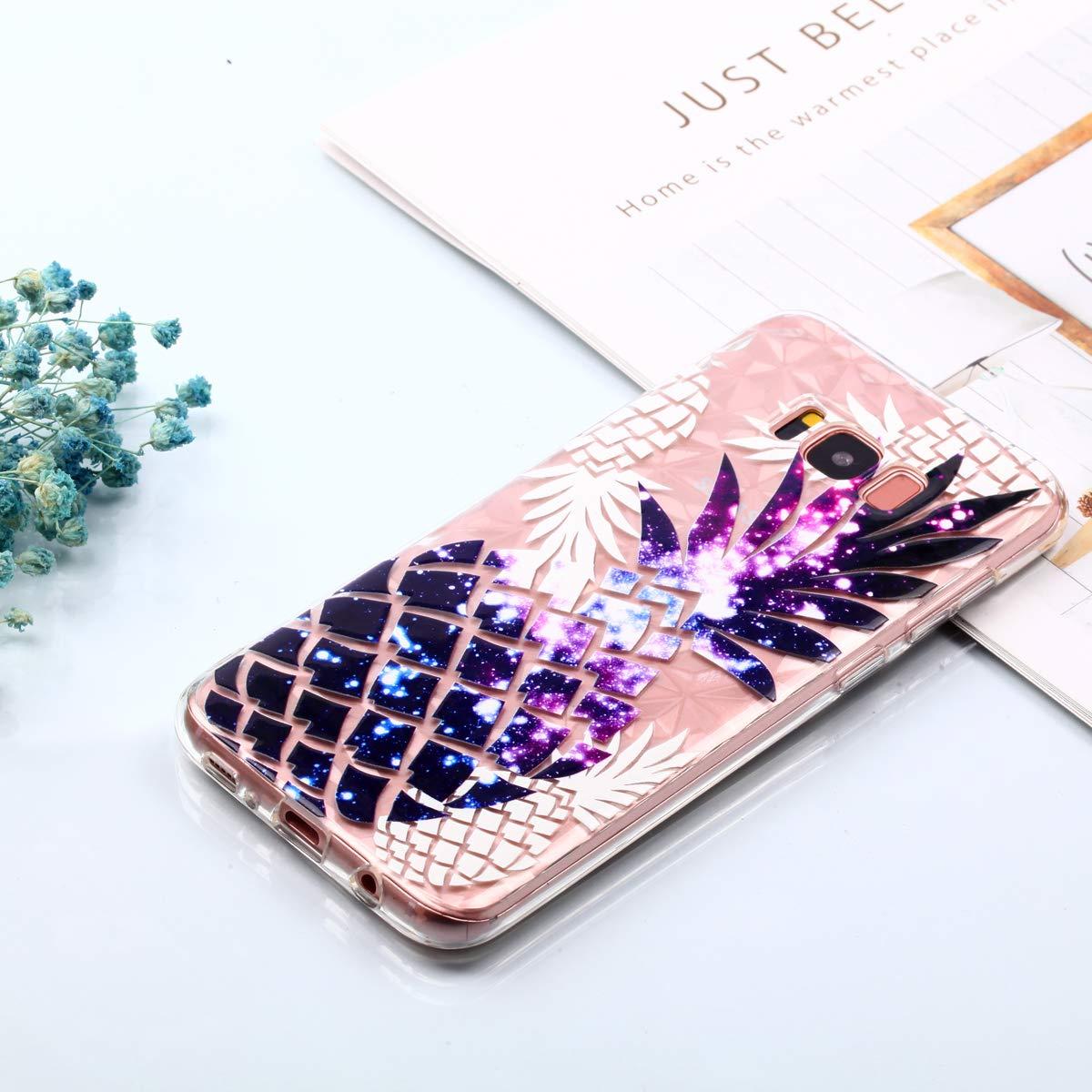 Felfy Kompatibel mit Galaxy S8 H/ülle Silikon Transparent mit Ananas Muster Crystal Clear Ultra D/ünn Flexibel Silikon Durchsichtig Case Kratzfeste Protective Handytasche