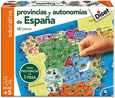 Diset 63737 - Provincias De España: Amazon.es: Juguetes y juegos