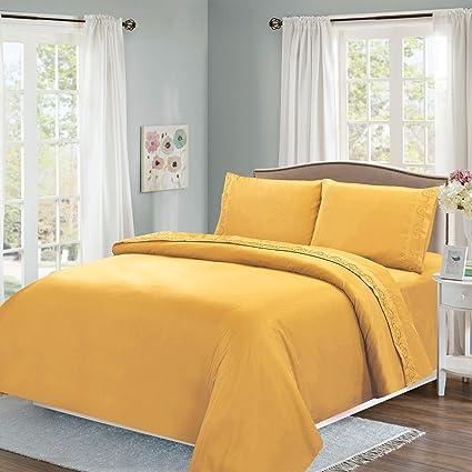 Uberlegen Topker 3 / 4ST Massiv Schlafzimmer Bettwäsche Set Spannbettuch Matratze  Schutzhülle Pillowcase Kit Startseite Bettbezüge