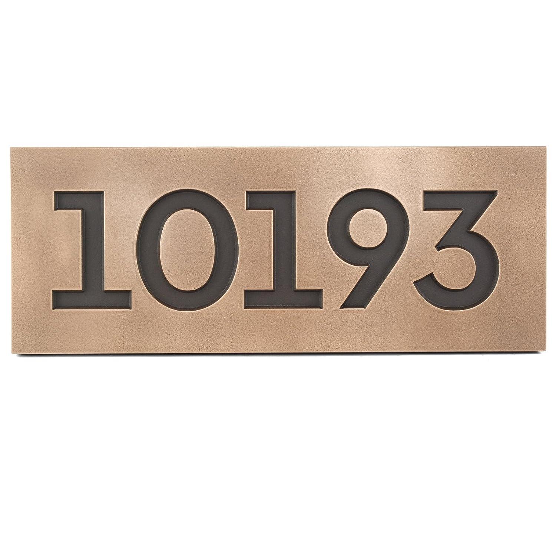 モダンフォントストリートアドレスPlaque 18.5 X 7 – ブロンズメタルコーティングUp To 5番号 B00JJY6CIM