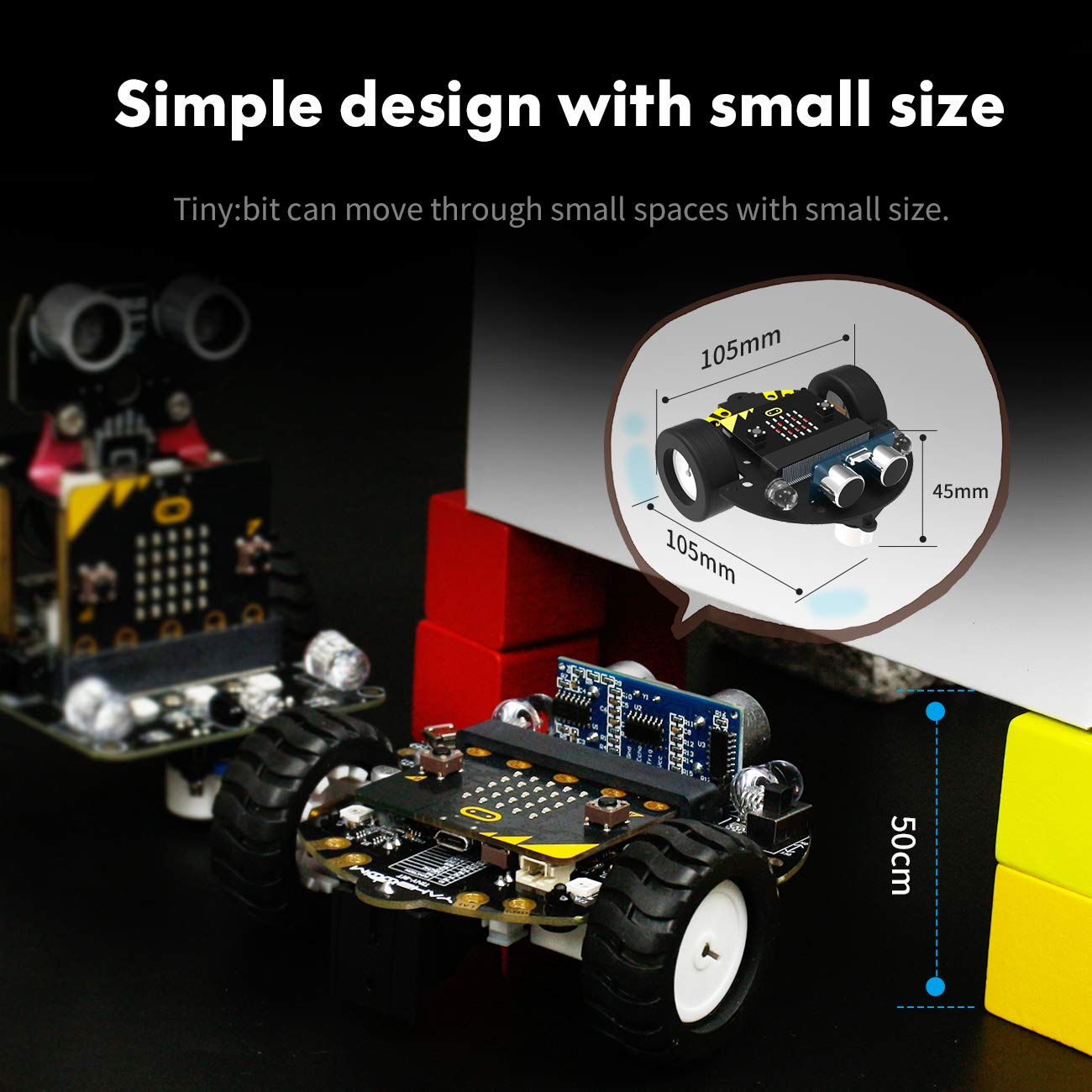 Yahboom Robot Kit for Micro:bit to Learn Programming STEM Education Toy Car for Kids 8+ (Without Micro:bit) by Yahboom (Image #2)