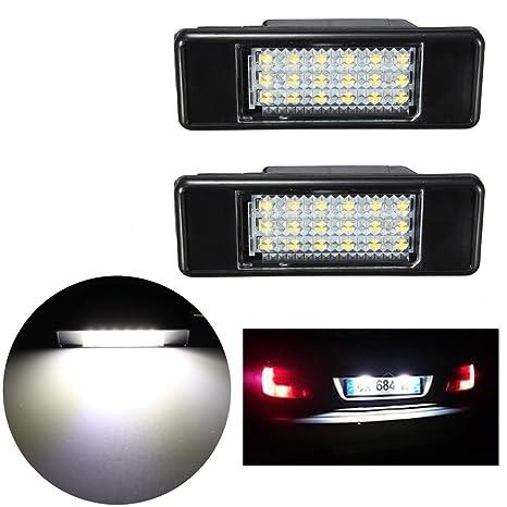 AUDEW 2pcs 75 x 25 mm luz de la placa posterior de matrícula, 18 LED