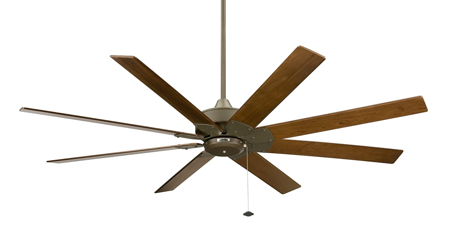 Beau Fanimation FP7910OB Levon 8 Blade Ceiling Fan, 63 Inches   Oil Rubbed  Bronze With Walnut Blades And Pull Chain   Outdoor Ceiling Fan   Amazon.com