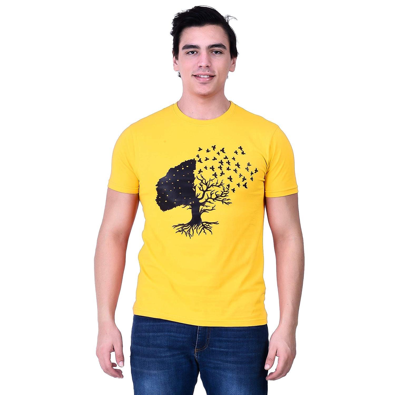 FoulPlayMensCottonRoundNeckTreeNatureT-Shirt