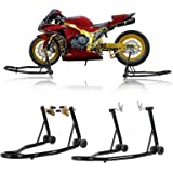 SUNCOO Sport Bike Motorcycle Wheel Stands Fork Universal Swingarm Spool Paddock Lift Combo Set for Motorbike Maintenance…