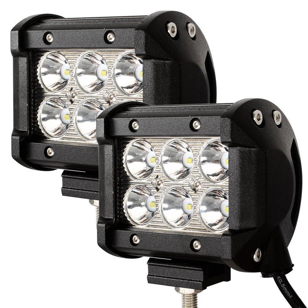 VINGO® 2X 18W lumières LED travail lumières de travail voiture 10-30 DC étanche pour voiture, excavateurs, hors route, lampe de travail SUV fsders
