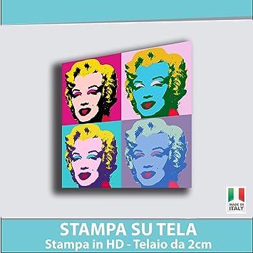 Quadro MARILYN MONROE Pop Art - STAMPA SU TELA Quadri Moderni ...