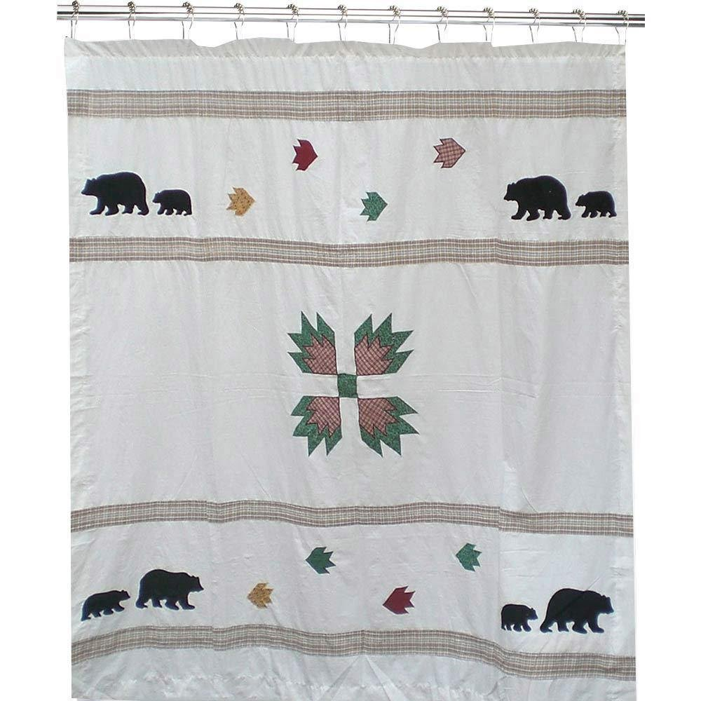 Bear's Paw Cz Shower Curtain