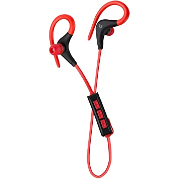 e24fbdf2500 KitSound Race In Ear Wireless Bluetooth Headphone with Spare Replaceable  Earbuds - Red,KSRACRD