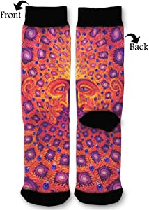 EKUIOP Socks Psychedelic Trippy Funny Fashion Novelty Advanced Moisture Wicking Sock for Man Women