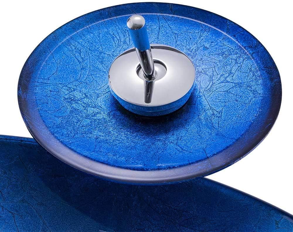 HomeLava Lavabo ovale en verre tremp/é noir cascade avec robinet pour salle de bains