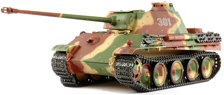 TAMIYA 300056022 - RC Panther G, Ferngesteuerter Panzer, 1 16, Elektromotor, Bausatz