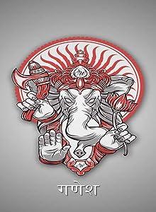 Rectangle Refrigerator Magnet - Religion Hinduism Hindu God Ganesh Mantra
