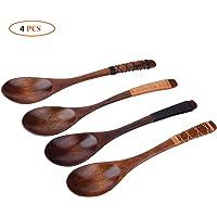 4 cucharas para sopa hechas a manos