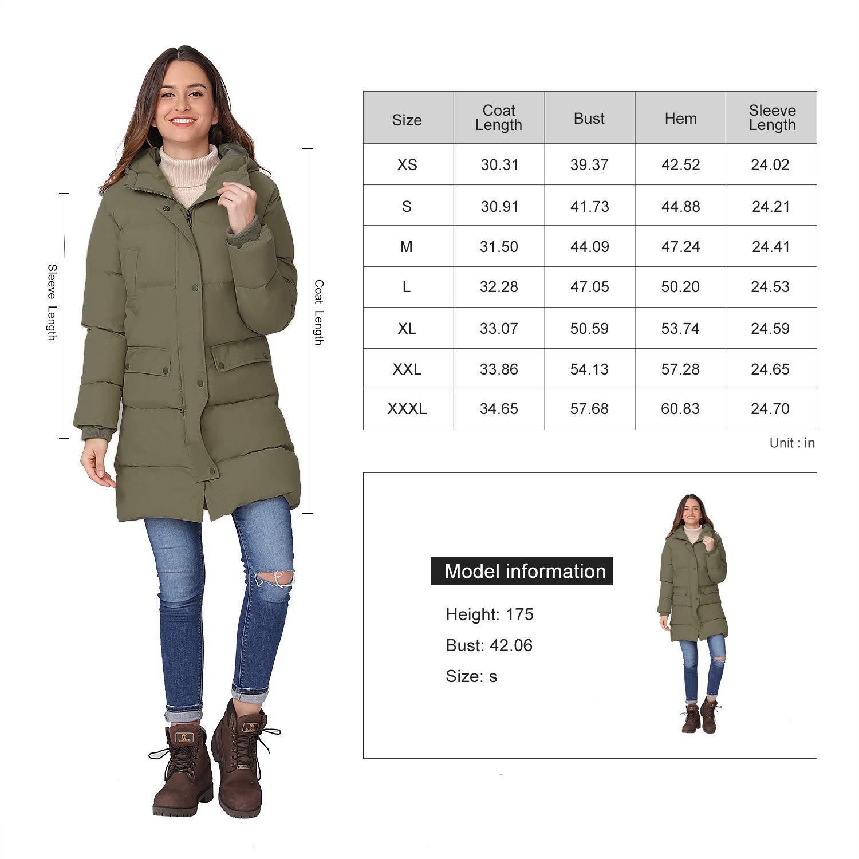 f/ür Outdoor und Winter Winddicht CAMEL Damen Daunenjacke mit Kapuze und Daunenjacke