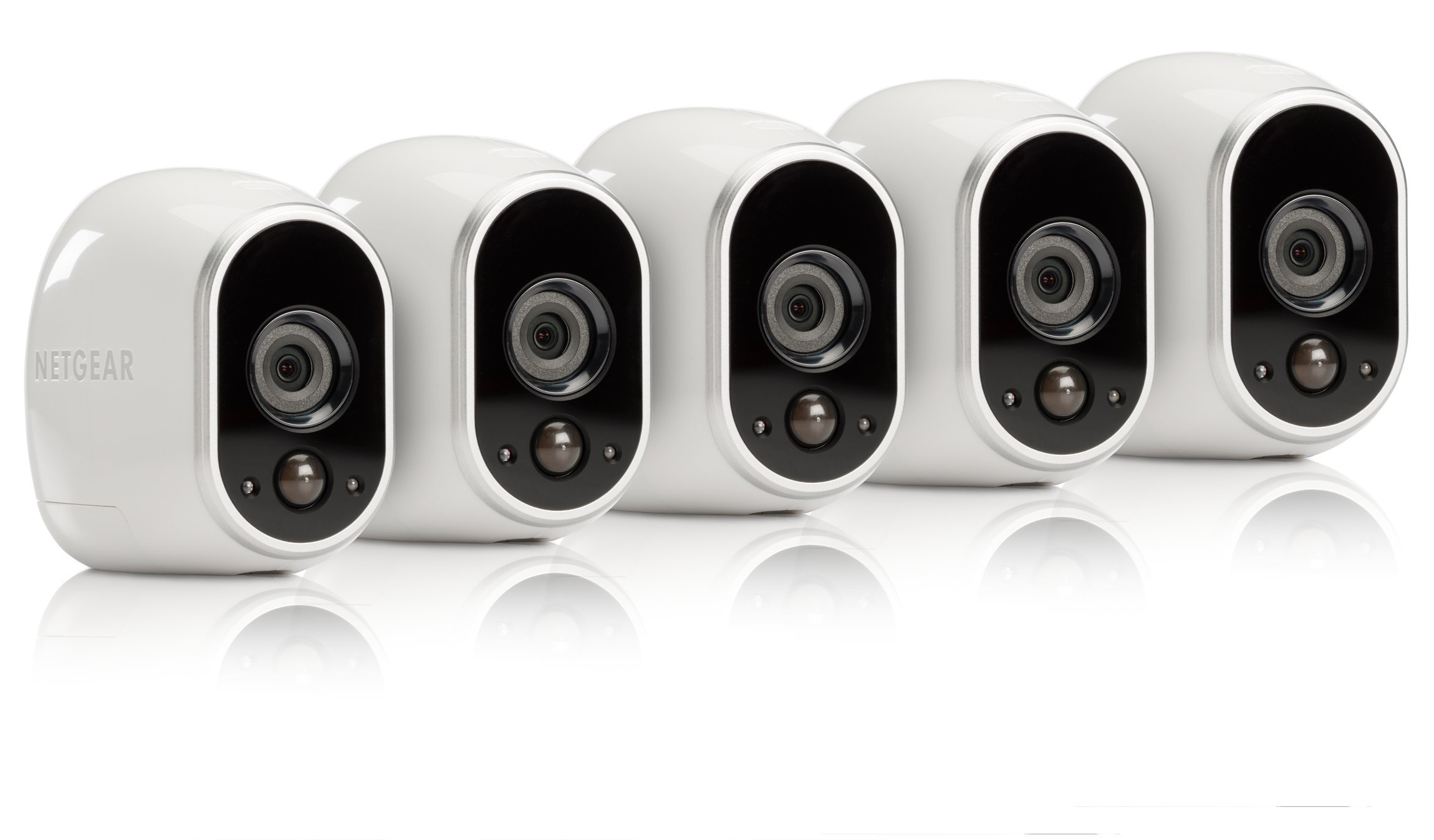 Arlo - Wireless Home Security Camera System | Night vision, Indoor/Outdoor, HD Video, Wall Mount | Cloud Storage Included | 5 camera kit (VMS3530-100NAR) - (Renewed) by Arlo Technologies, Inc