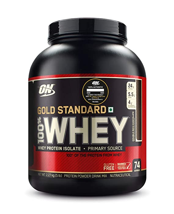 Optimum Nutrition On Gold Standard 100 Whey Protein Powder 5 Lbs 2 27 Kg Double Rich Chocolate Primary Source Isolate Amazon In Health Personal Care