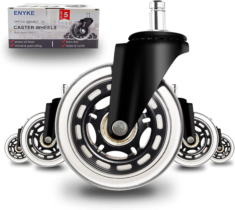 "Details about  /5PCS KAK 3/"" Universal Mute Wheel Office Chair Caster Replacement 60KG Casters"