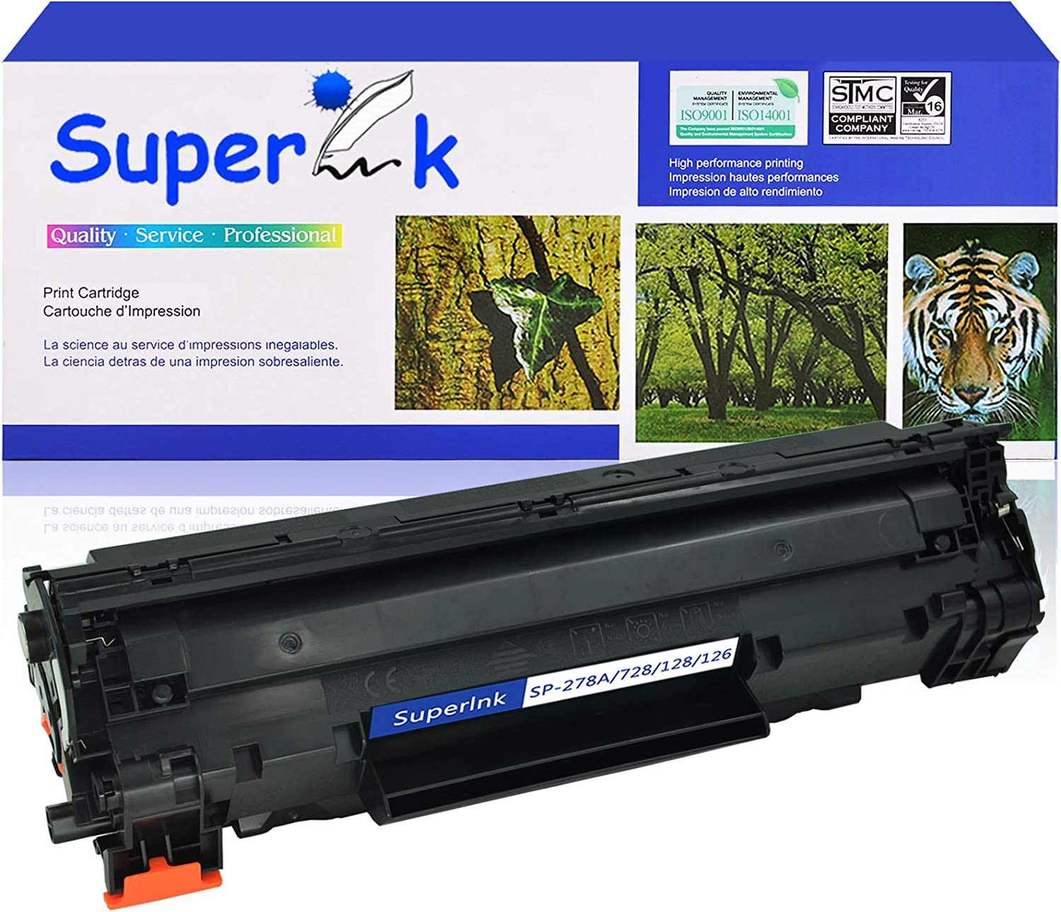 Black, 1-Pack SuperInk Toner Cartridge Replacement Compatible for Canon 126 CRG126 3483B001 to use with ImageClass LBP6200 LBP6200d Multi-Function Printer